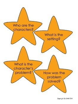 "Story Elements and Reading Comprehension Game ""Catch a Star in the Jar"""