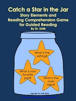 """Story Elements and Reading Comprehension Game """"Catch a Star in the Jar"""""""