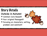 Story Elements Comprehension- PDFs and Google Forms!  Featuring Autumn!