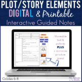 Plot /Story Elements DIGITAL Pixanotes® + Dominoes Practice Game!