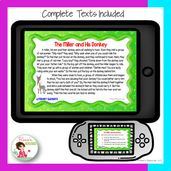 Story Elements Unit - Bundle of Digital Interactive Notebooks