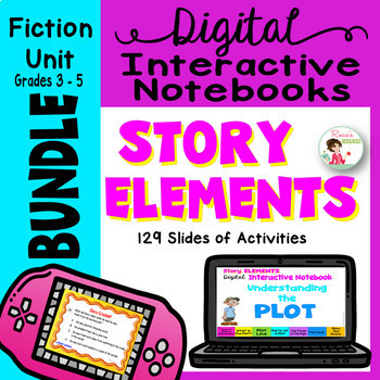 Story Elements Unit Bundle Of Digital Interactive Notebooks