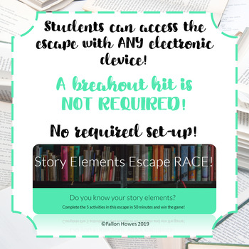 Story Elements Digital Escape Room - High Interest - Engaging - Testing Review