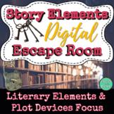 Story Elements Digital Escape Room - High Interest - Engaging - ELA Review