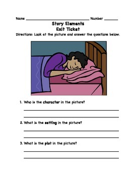 Story Elements Exit Ticket