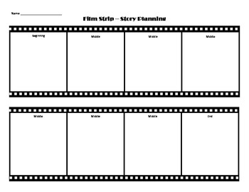 Story Elements - Film Strip - Planning Page