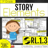 Story Elements 1st Grade RL.1.3 with Digital Learning Link