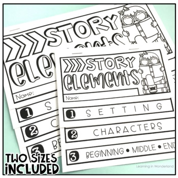 Story Elements Flip Book {Two Sizes Included}