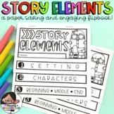 Story Elements Flip Book | English & Spanish | Elementos del Cuento