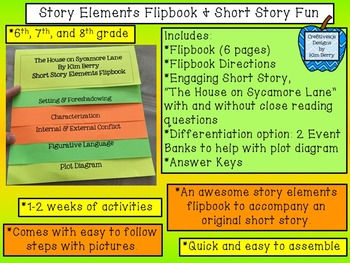 Story Elements Flipbook and Short Story Fun!