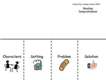 Story Elements Flipbook for Reading Comprehension