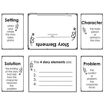 Story Elements Foldable: Free From Reading Strategies Bundle of Foldables