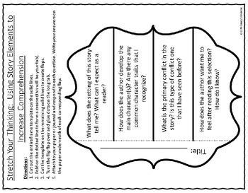 Printable Story Elements for Intermediate Grades ELA 3-5