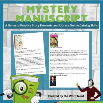 Story Elements Game: Mystery Manuscript