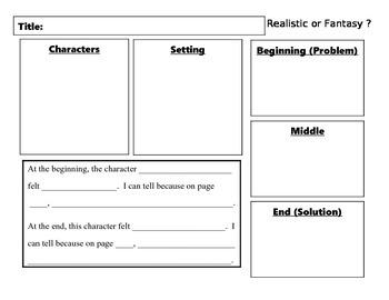 Story Elements Graphic Organizer (Common Core aligned)