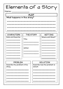 story elements graphic organizer by caitlin howald tpt. Black Bedroom Furniture Sets. Home Design Ideas
