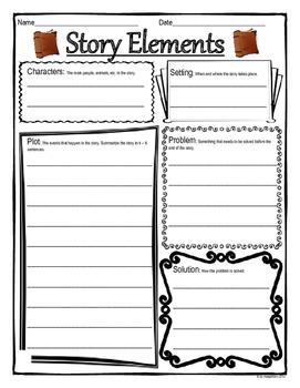 Story Elements Graphic Organizer Worksheet