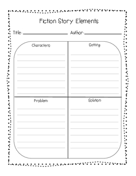 Story Elements Graphic Organizer