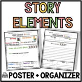 Story Elements Poster and Graphic Organizer SCOPS