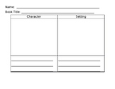 Story Elements Graphic Organizer - Character, Setting, Problem, Solution