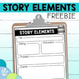Story Elements Graphic Organizer FREE