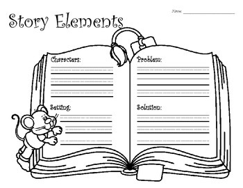 Story Elements Graphic Organizer - Mouse
