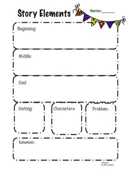 Story Elements Graphic Organizer by JellyJams ~No Prep
