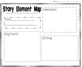 Story Elements Graphic Organizer for Early Grades