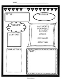 Story Elements Graphic Organizer for Grades 2-5