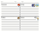 Story Elements Graphic Organizer/Fiction Story Re-telling