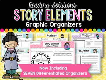 Story Elements Graphic Organizers