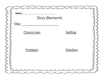 Story Elements Graphic Organizers (Differentiated)