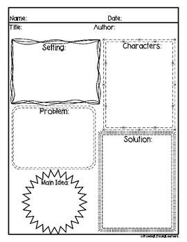 Story Elements Graphic Organizers: FREEBIE!