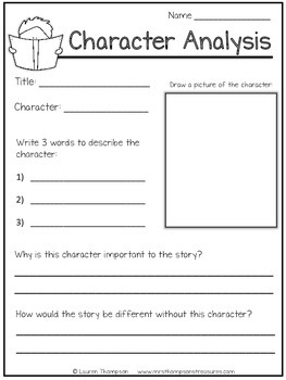 Story Elements Graphic Organizers Set