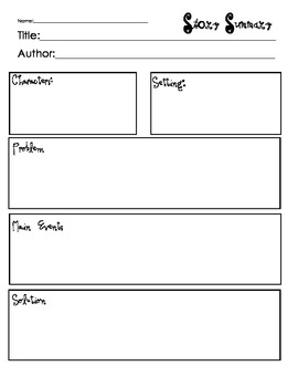 Story Elements Graphic Organizers-Summarize, Map, Retell, Organize and Sequence.