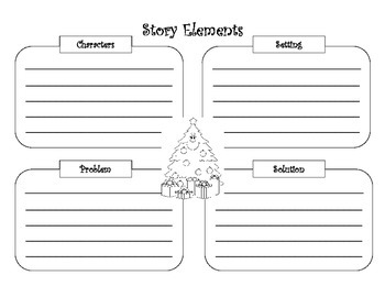 Story Elements Graphic Organizers for Seasonal / Holiday T
