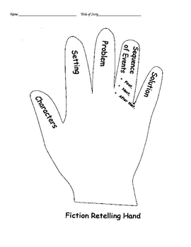 Story Elements Hand used with nonfiction text