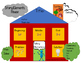 Story Elements House Graphic Organizer / Literacy Chart in English and Spanish