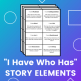 """Plot, Character, and Story Elements """"I Have Who Has"""" Collaborative Game"""