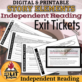 Story Elements Independent Reading Exit Tickets