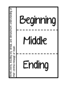 Story Elements Interactive Notebook pages