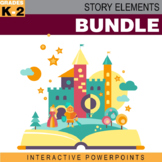Story Elements Interactive PowerPoints w/ Worksheets Bundle