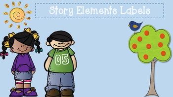 Story Elements Labels & Mini Posters
