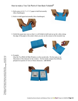 Story Elements Layered Look Book Foldable