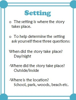 Story Elements: Lessons, Worksheets, Posters
