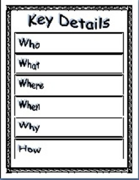 Story Elements; Levels of Questions; 5 Day Story Printables
