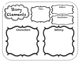 Story Elements Map for Stations or Individual Work