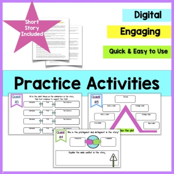 Story Elements Mini Lesson Notes and Activities for Middle School RL3
