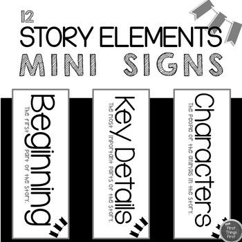 Story Elements Mini Signs
