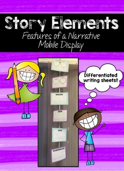 Story Elements - Narrartive Story Elements Display Craft Activity